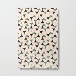 Mini Modern Triangles Metal Print