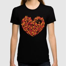 Wild at Heart Womens Fitted Tee Black MEDIUM
