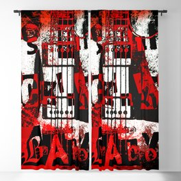 it's only rock n roll Baby Blackout Curtain