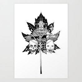 The Fallen Leaf Art Print