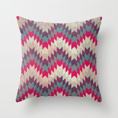 Chevron pattern_purple, blue and pink Throw Pillow