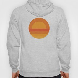 Retro Geometric Sunset Hoody
