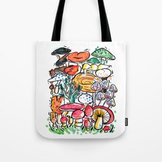 Fungi family Tote Bag