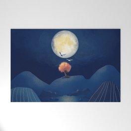 Full moon night Welcome Mat