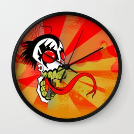 Screaming Demon Wall Clock