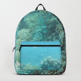 Watercolor Human Impact, Trash 13, Net Backpack