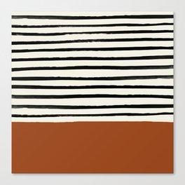 Burnt Orange x Stripes Canvas Print