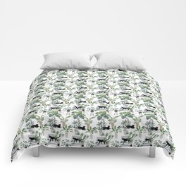 cats in the interior pattern Comforters