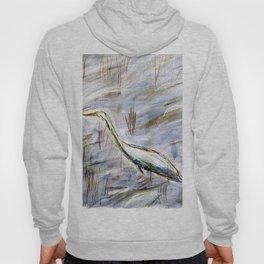 Egret in Blue Hoody