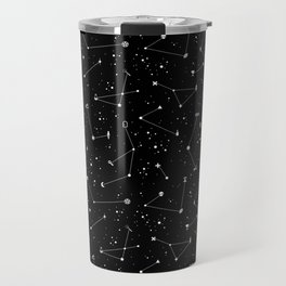 Constellations (Black) Travel Mug
