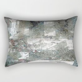 Abstract paint weathered chaotic wall texture material surface colorful digital illustration backgro Rectangular Pillow