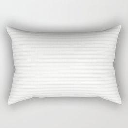 Creamy Tofu White Mattress Ticking Narrow Striped Pattern - Fall Fashion 2018 Rectangular Pillow