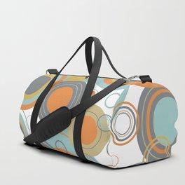 Retro Mid Century Modern Circles Geometric Bubbles Pattern Duffle Bag
