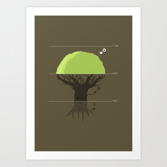 past/present/future Art Print