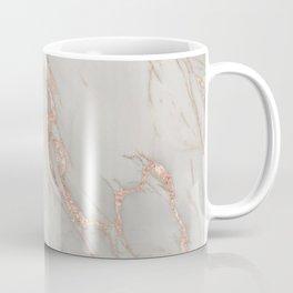 Marble - Rose Gold Marble Metallic Blush Pink Coffee Mug