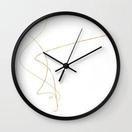 Kintsugi 2 #art #decor #buyart #japanese #gold #white #kirovair #design Wall Clock