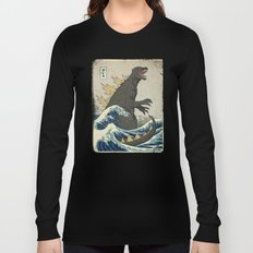 The Great Godzilla off Kanagawa Long Sleeve T-shirt