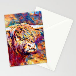 Highland Cow 6 Stationery Cards