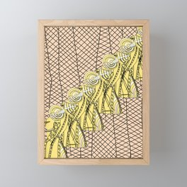 Fishnet Gold Framed Mini Art Print