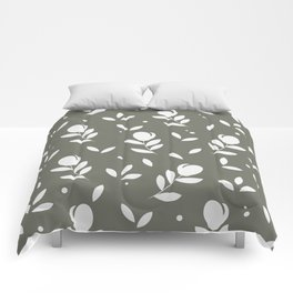 Let it bloom with tulips, floral pattern designet it bloom with tulips, floral pattern design Comforters