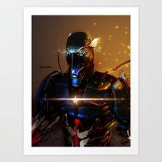 Captain America Cyber Evolution Fan Art Art Print