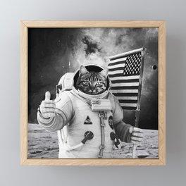 SPACE CAT Framed Mini Art Print