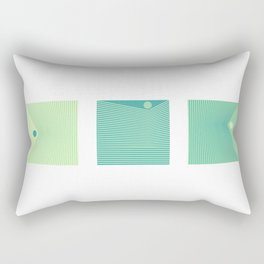 Triptique Minimaliste Rectangular Pillow