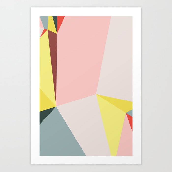 Polygonal Composition n° 2 Art Print