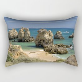 Rocky cove, the Algarve, Portugal Rectangular Pillow