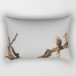 Hawk Eagle with its Catch Rectangular Pillow