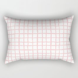 Pantone rose quartz grid pattern print minimal lines cross swiss cross painting hand drawn pastel Rectangular Pillow