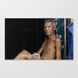 A cigarette to ease the pain Canvas Print