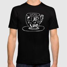 Cup Full Of Love Chalkboard Black MEDIUM Mens Fitted Tee