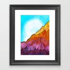 The Tall Cliff Framed Art Print