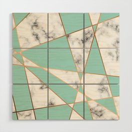 Marble Geometry 055 Wood Wall Art