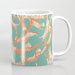 cat party jade orange Coffee Mug