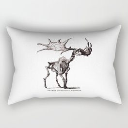 Irish Elk Skeleton Rectangular Pillow