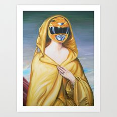 Portrait Of A Yellow Ranger Art Print