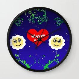 Smiling Daisies Wall Clock