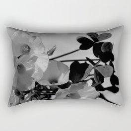 Lemon Clover Wildflowers Bouquet Rectangular Pillow