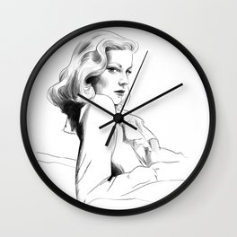 Lauren Bacall - Illustration Wall Clock