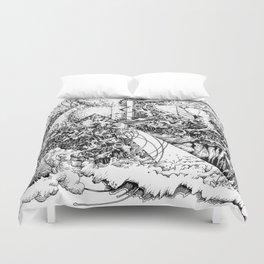 symptomatic recline Duvet Cover