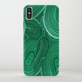 Green Malachite Nature Pattern Design Abstract iPhone Case