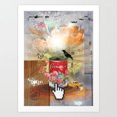 Rainbow Bird Art Print