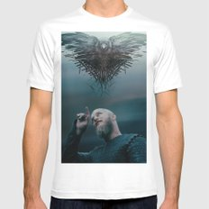 Raven MEDIUM White Mens Fitted Tee