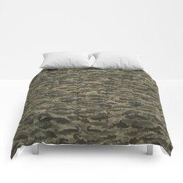 Fresh water fish camouflage Comforters