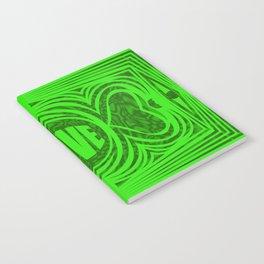 heart center1 green Notebook