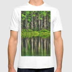 Forest reflection White MEDIUM Mens Fitted Tee