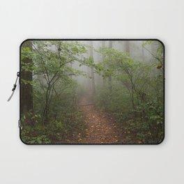 Adventure Ahead - Foggy Forest Digital Nature Photography Laptop Sleeve