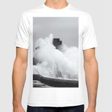 Up an Over MEDIUM White Mens Fitted Tee